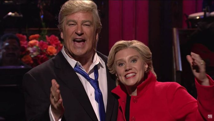 Alec Baldwin, Kate McKinnon break character on SNL (Watch)
