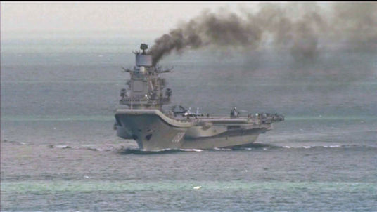 Russian warship in the English Channel
