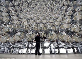 German Researchers switch on 'Synlight' - the world's largest artificial sun