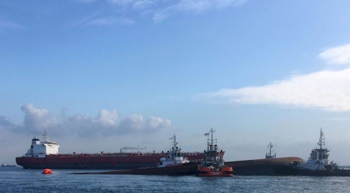 Singapore Ship Collision: Two dead, three still missing