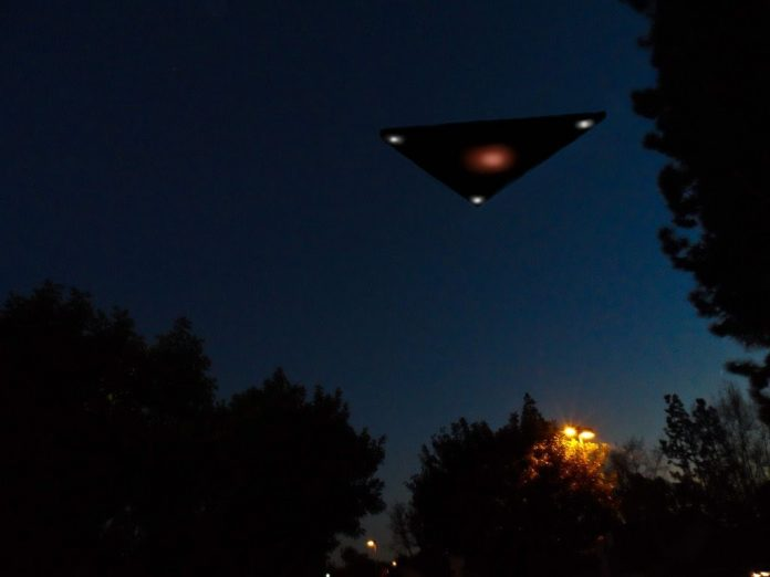 Black Triangle UFO caught on Google Earth