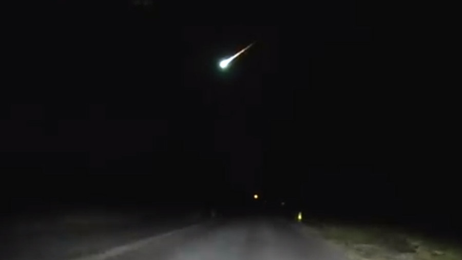 Police dashcam captures shooting fireball across New Jersey sky