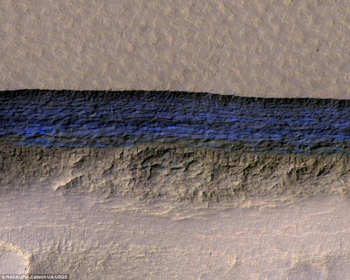 Researchers find thick sheets of ice just below Mars' surface