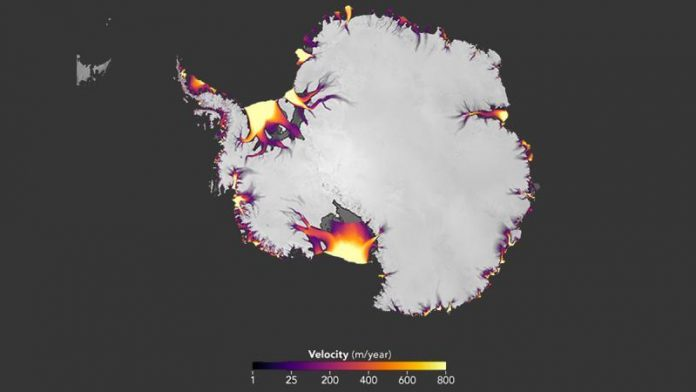 Researchers discovered the velocity of ice melting from Antarctica