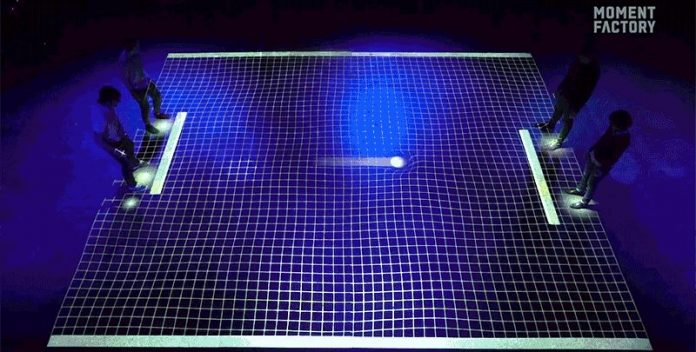 Video: LiDAR tech used to create giant 'pong' arena