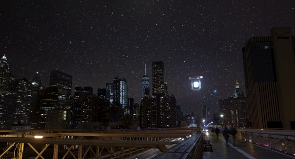 Watch: The real beauty of the dark sky in New York city