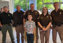'Donut Boy' Tyler Carach has delivered doughnuts to thank police officers