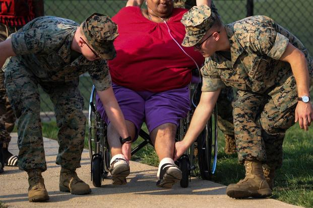 Marines save senior citizens After DC Catches Fire