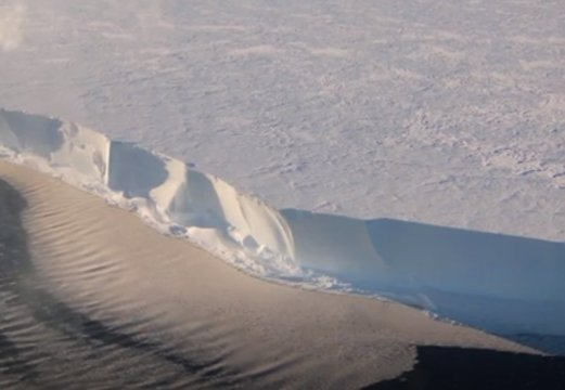 Antarctic Ice Shelf Sings As Winds Whip Across Surface