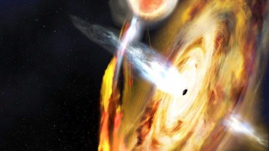 Astronomers Clock a Black Hole Spinning at Half the Speed of Light