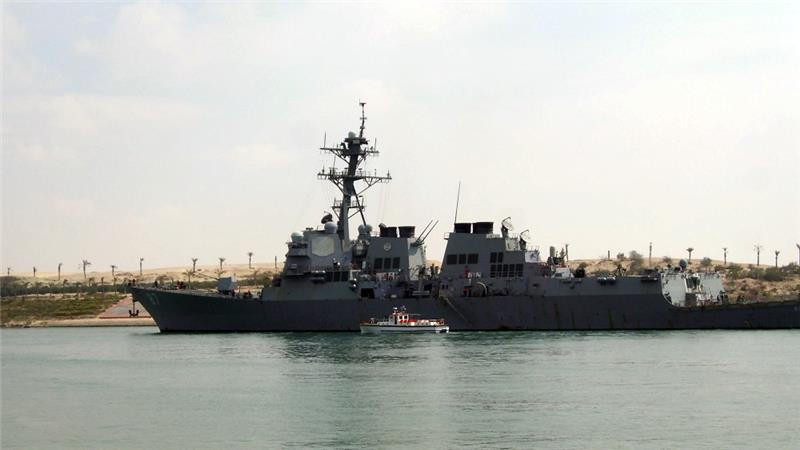 USS Mason Missiles fired at US navy destroyer from rebel-held Yemen