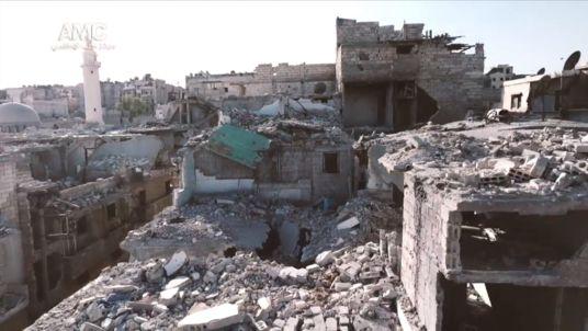 The destruction of Aleppo. Pic: Aleppo Media Center