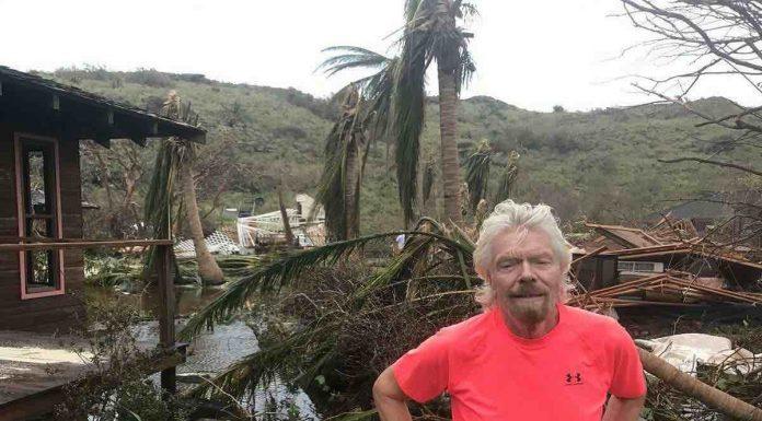 Richard Branson Shares Pics From 'Unforgiving' Irma