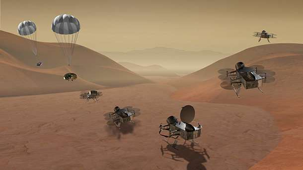 Scientists developing drone for NASA concept mission to Titan