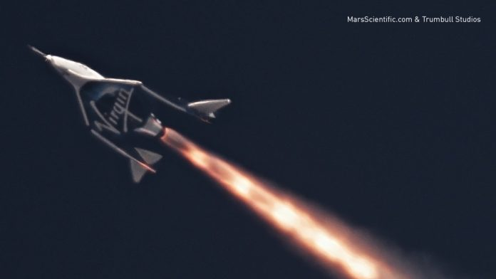Virgin Galactic completes first rocket-powered test flight (Video)