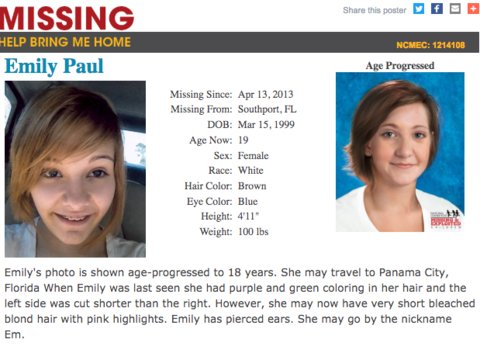 Missing Emily Wynell Paul sends letter after vanishing 5 years ago