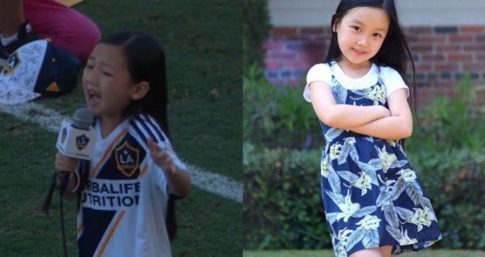 Malea Tjandrawidjaja sings epic national anthem at LA Galaxy game