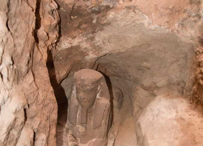 Sphinx found in Egyptian Temple at Aswan