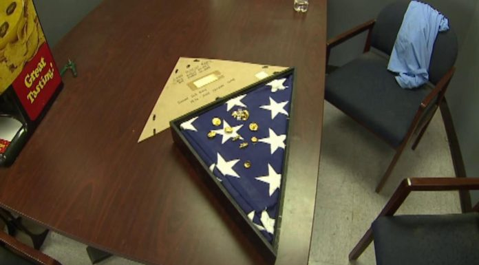 Burial flag returned to Navy wife in Denver
