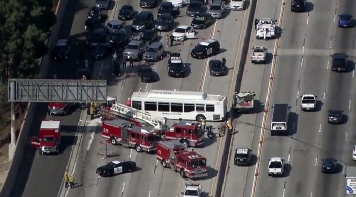 Los Angeles highway crash injures at least 25