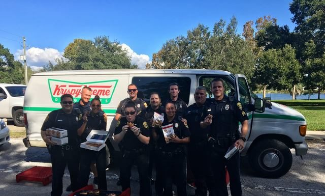 Police stolen doughnut van, treats donated to homeless