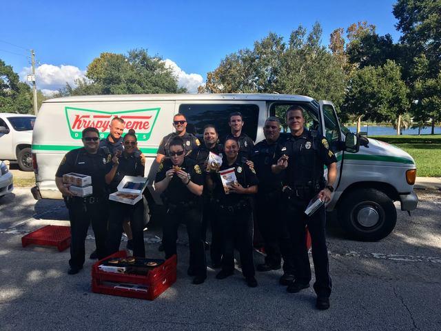 Police stolen doughnut van, treats donated to homeless