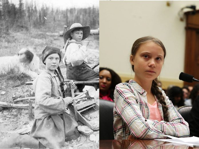 Picture: Girl in 121-year-old photo resembles Greta Thunberg