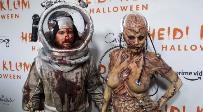 Watch: Heidi Klum's Scary Halloween Costume Includes Gruesome