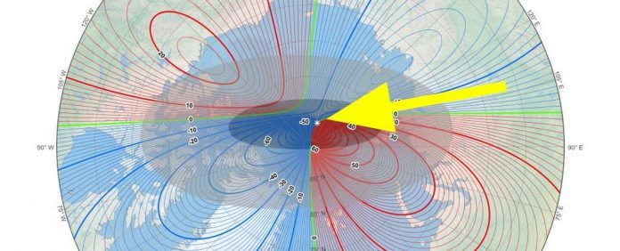 Study Says Earth's Magnetic North Pole Is Moving Toward Russia