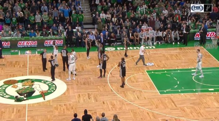 Fan placed under arrest during Celtics-Spurs game