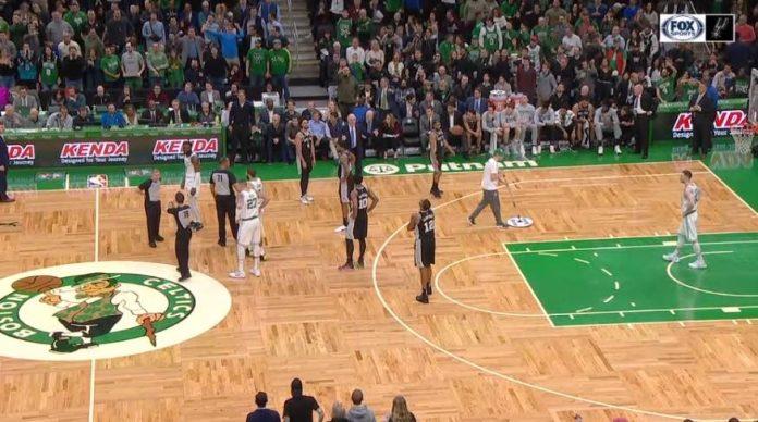 Fan placed under arrest during Celtics-Spurs game