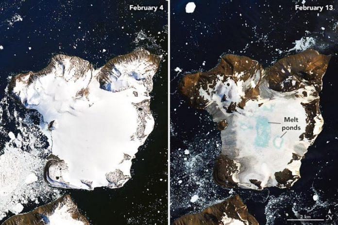 NASA satellite images reveal dramatic melting in Antarctica, Report
