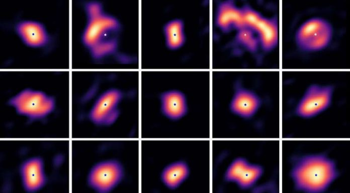 Researchers capture rare images of planet-forming disks around stars
