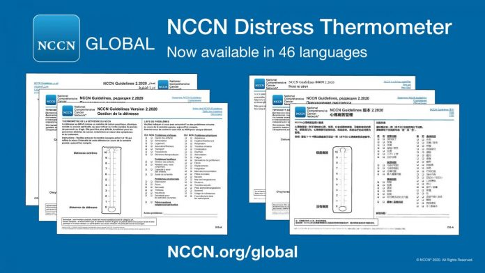 Translated tool from NCCN measures mental health 'temperature' of people with cancer