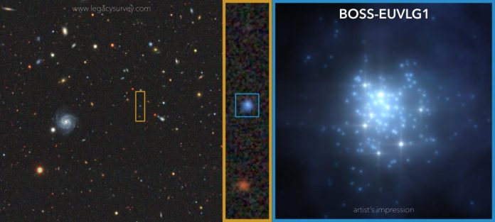Scientists find the first galaxy whose ultraviolet luminosity is comparable to that of a quasar